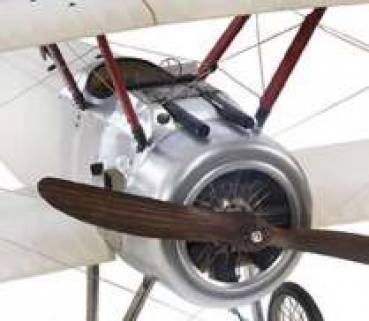 Flugzeugmodell Doppeldecker Sopwith transparent Motor