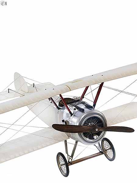 Flugzeugmodell Doppeldecker Sopwith transparent Front