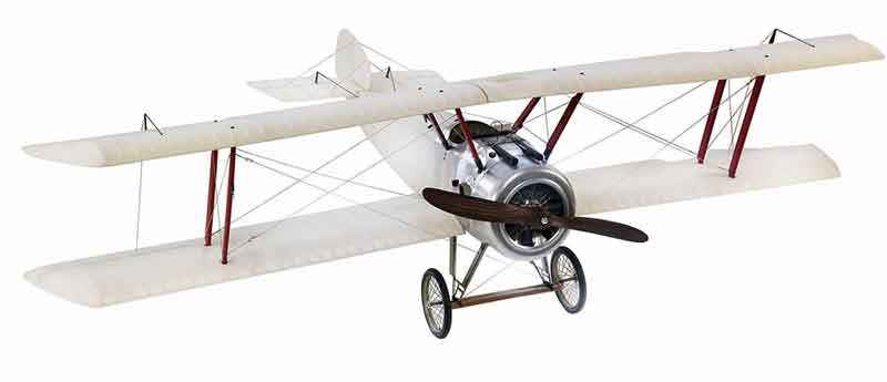 Riesiges Doppeldecker Modell Sopwith Camel