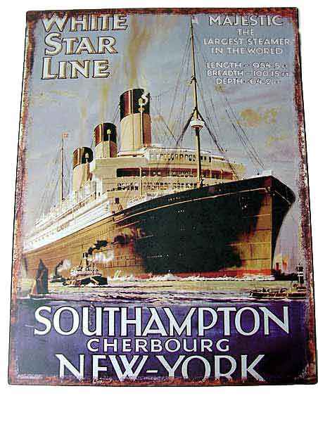 Blechschild White Star Line